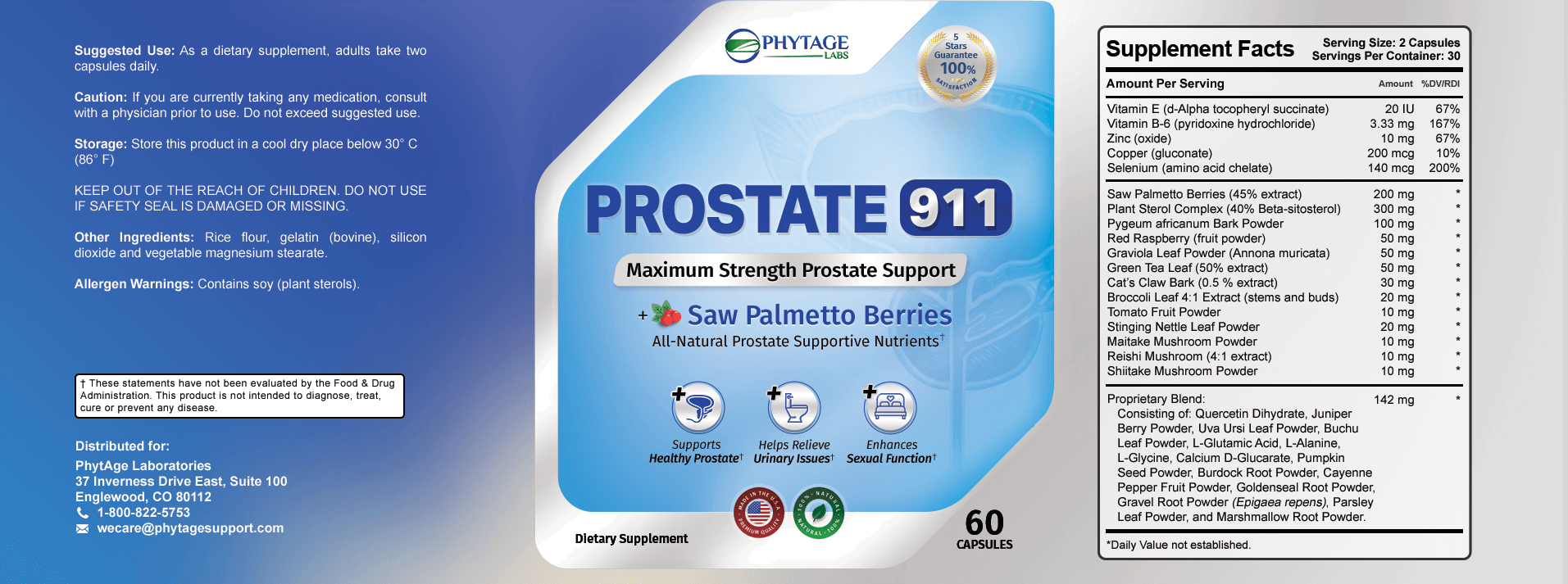 Prostate 911™ ingredients